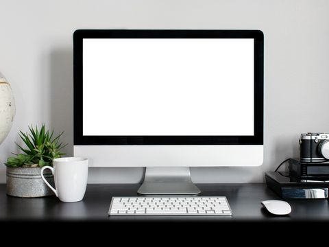 Display device, Product, Flowerpot, Electronic device, Computer desk, Desktop computer, Technology, Peripheral, Flat panel display, Computer hardware,