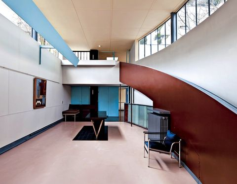 Interior design, Architecture, Building, Ceiling, Daylighting, Room, Floor, Stairs, Design, Office,