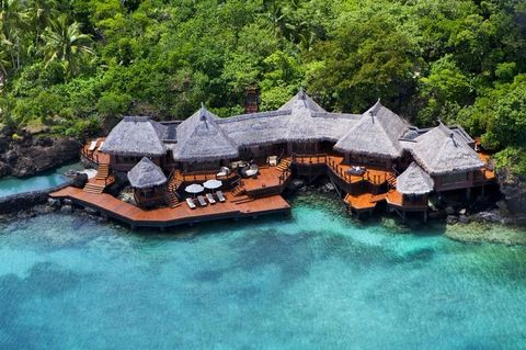 Water, House, Landscape, Architecture, Rock, Jungle, Home, Vehicle, Coastal and oceanic landforms, Leisure,