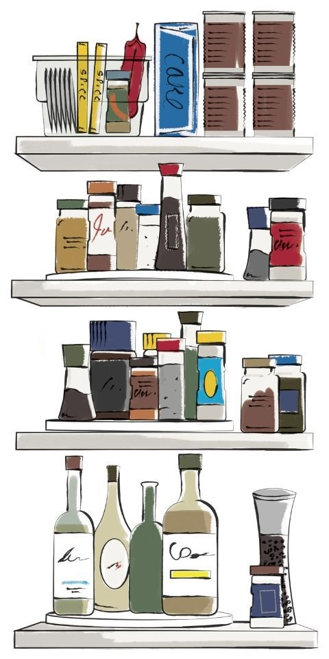 Shelf, Shelving, Furniture, Room, Illustration,