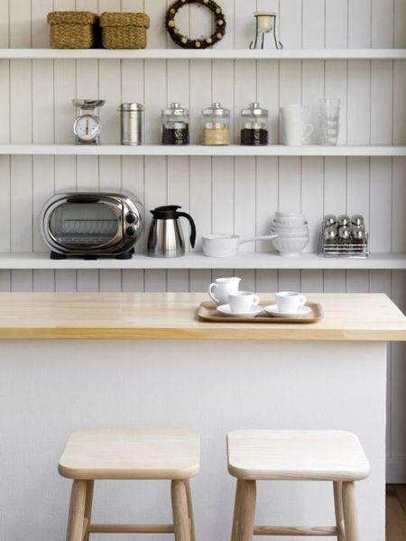 Serveware, Dishware, Kitchen, Shelf, Home accessories, Iron, Small appliance, Kitchen appliance, Interior design, Wall clock,