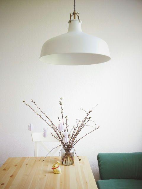 Wood, Room, Ceiling fixture, Table, Furniture, Wall, Light fixture, Twig, Interior design, Interior design,