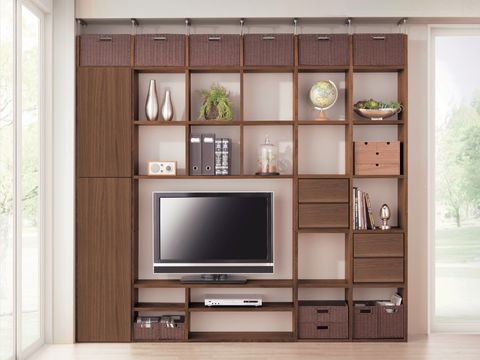 Wood, Interior design, Room, Display device, Wall, Electronic device, Shelf, Shelving, Television set, Cabinetry,