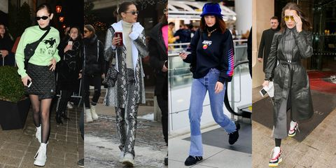 Clothing, Footwear, Leg, Trousers, Textile, Outerwear, Style, Street fashion, Hat, Bag,