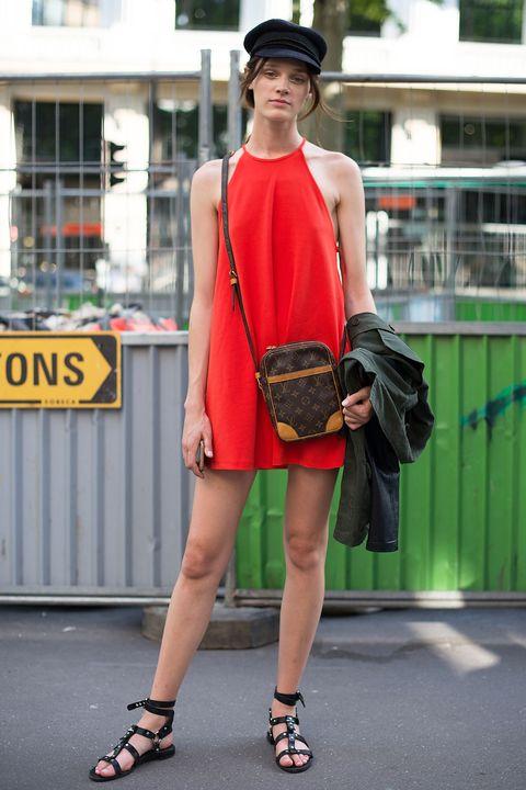 Clothing, Street fashion, Shoulder, Fashion, Orange, Footwear, Beauty, Snapshot, Fashion model, Yellow,