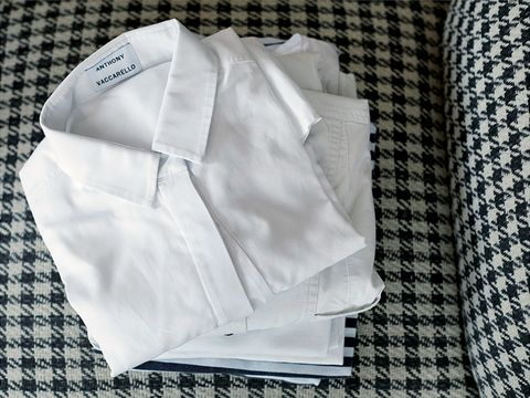 Textile, White, Pattern, Collar, Grey, Button, Home accessories, Pattern, Linens, Woven fabric,