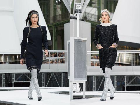 White, Fashion model, Black, Clothing, Fashion, Street fashion, Shoulder, Black-and-white, Fashion design, Footwear,