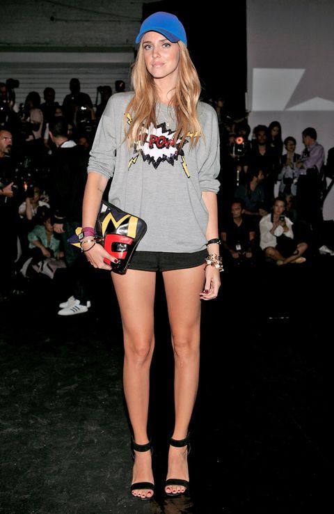 Clothing, Leg, Human body, Shoulder, Shoe, Human leg, Joint, Cap, Style, Fashion accessory,