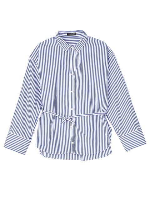 Clothing, White, Blue, Sleeve, Shirt, Collar, Pattern, Dress shirt, Outerwear, Button,