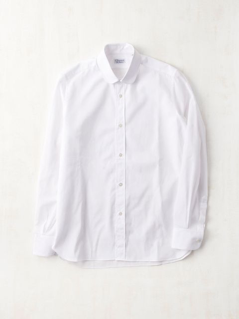 Clothing, Dress shirt, Product, Collar, Sleeve, Textile, White, Pattern, Button, Lavender,