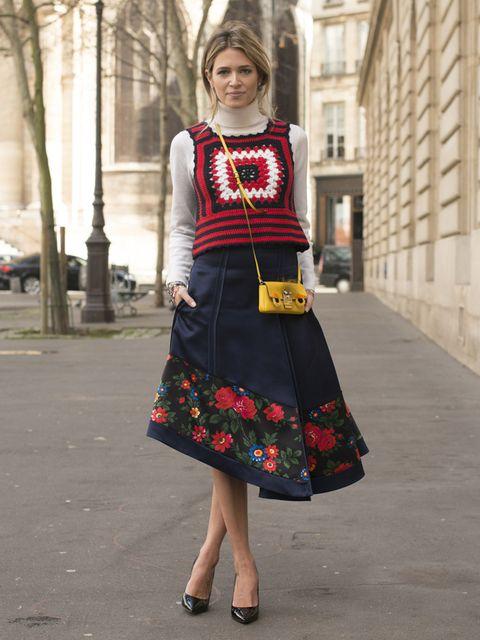 Clothing, Shoulder, Textile, Joint, Style, Street fashion, Dress, Pattern, Fashion, Magenta,