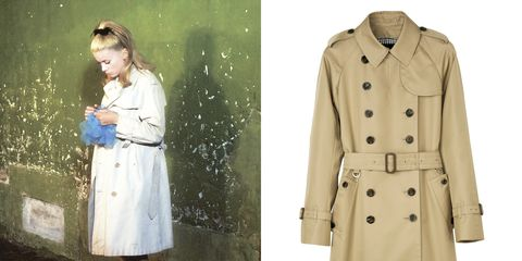 Clothing, Trench coat, Coat, Overcoat, Outerwear, Duster, Fashion, Dress, Sleeve, Beige,