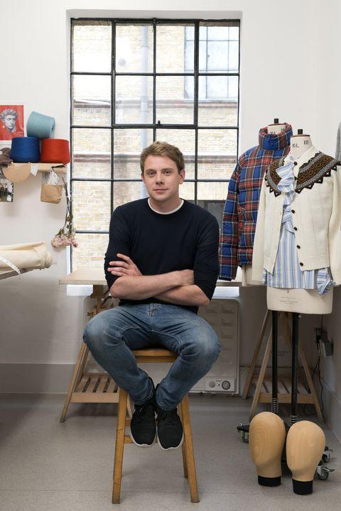 Denim, Jeans, T-shirt, Shelving, Tartan, Plaid, Fashion design, Stool, Retail, Collection,