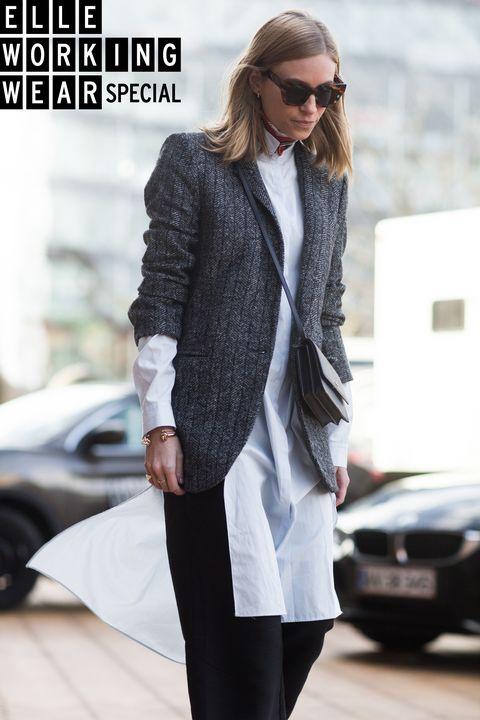 Clothing, White, Outerwear, Street fashion, Coat, Blazer, Jacket, Fashion, Overcoat, Sleeve,