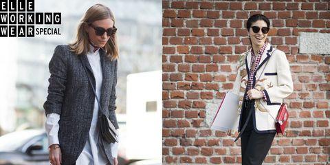 Clothing, White, Street fashion, Blazer, Fashion, Outerwear, Suit, Jacket, Footwear, Formal wear,