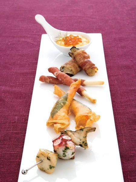 前菜5種盛り 生ハムグリッシーニ のレシピ・作り方|ELLE gourmet [エル・グルメ]