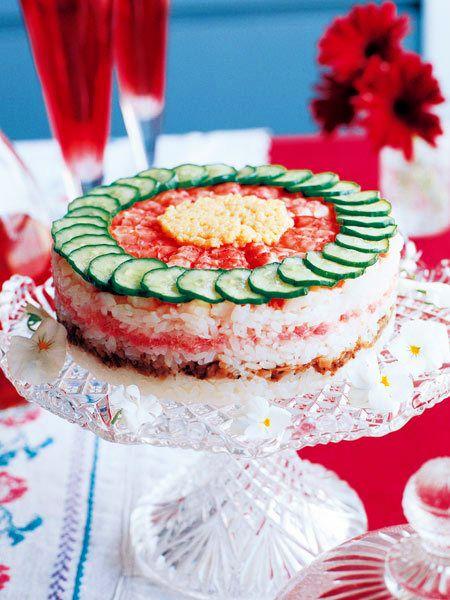 お寿司のケーキ のレシピ・作り方|ELLE gourmet [エル・グルメ]