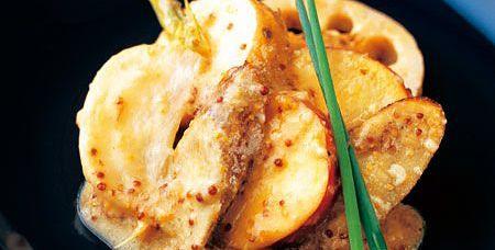 根菜のロースト、味噌マスタードマリネ