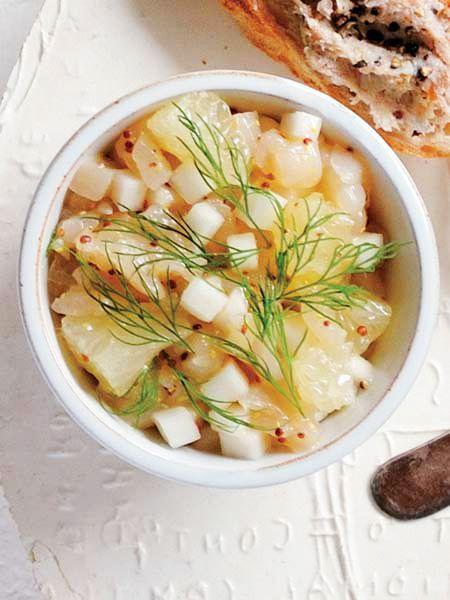 帆立とかぶ、グレープフルーツ のレシピ・作り方|ELLE gourmet [エル・グルメ]