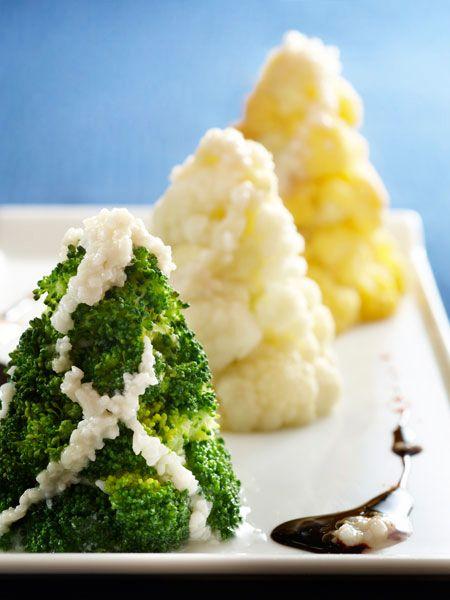 雪のツリーのサラダ 塩麹のバルサミコソース添え のレシピ・作り方 ELLE gourmet [エル・グルメ]