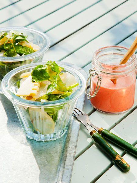うどとたけのこのサラダ いちごドレッシング添え のレシピ・作り方|ELLE gourmet [エル・グルメ]