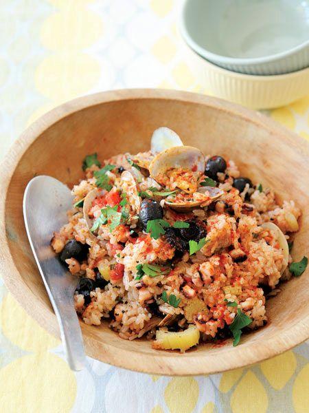 トマトとたこの炊き込みごはん のレシピ・作り方|ELLE gourmet [エル・グルメ]