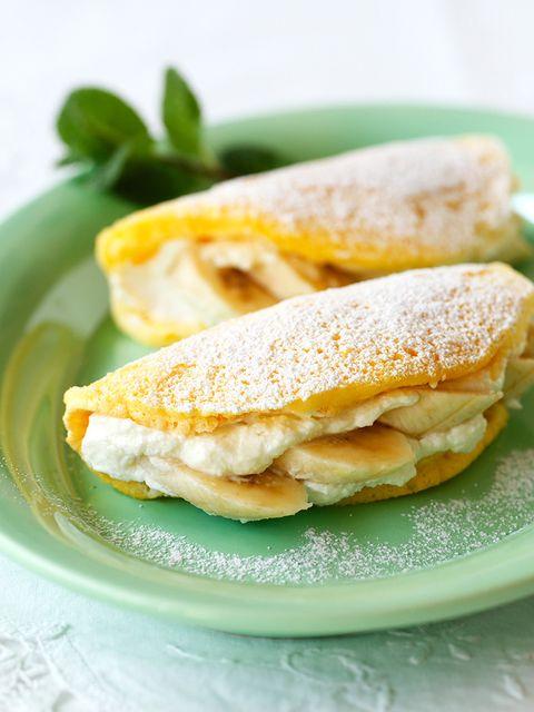 ふわふわバナナパンケーキ のレシピ・作り方|ELLE gourmet [エル・グルメ]