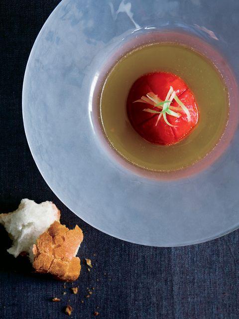 焼きトマトのスープ仕立て のレシピ・作り方|ELLE gourmet [エル・グルメ]