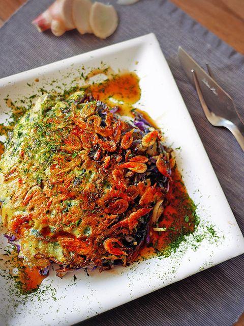 新しょうがと桜海老のお好み焼き のレシピ・作り方 ELLE gourmet [エル・グルメ]