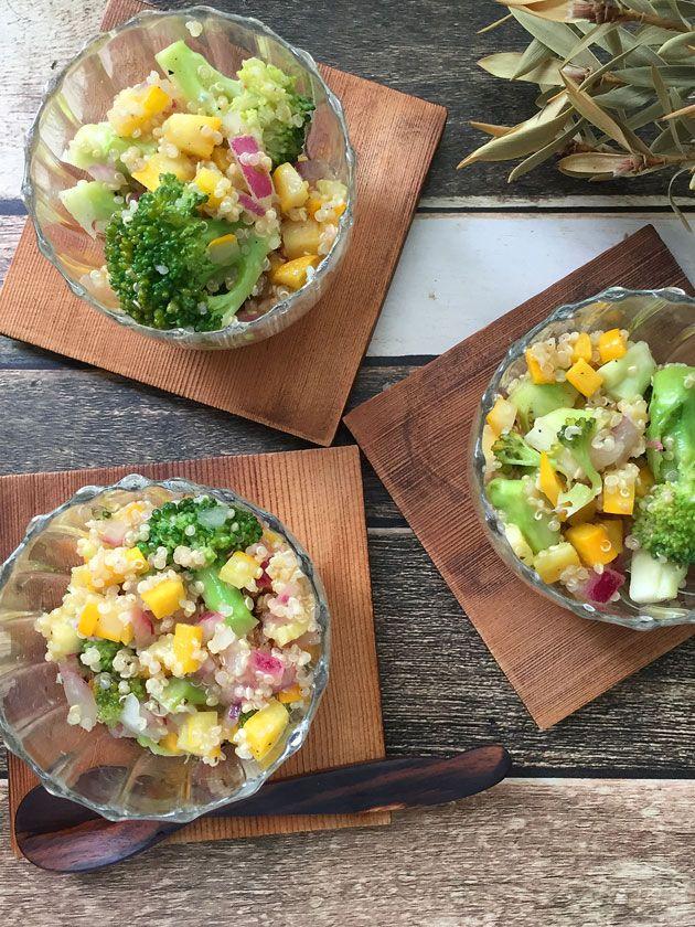 イエローズッキーニとキヌアのサラダ