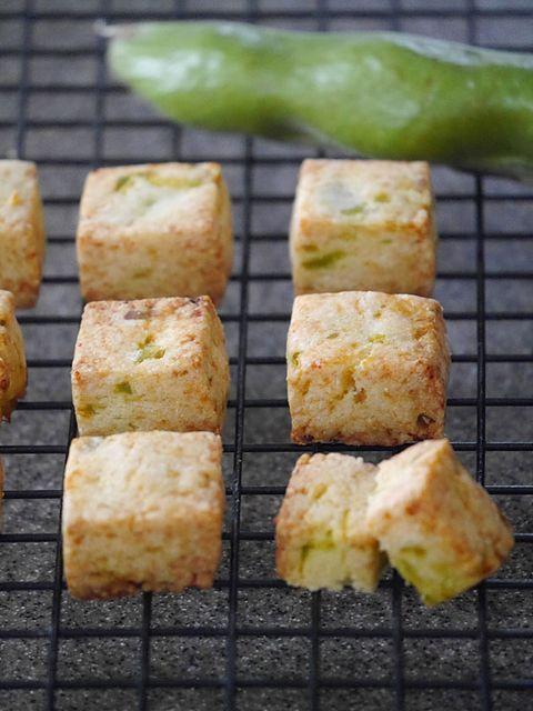 そら豆とチーズのサブレ のレシピ・作り方|ELLE gourmet [エル・グルメ]
