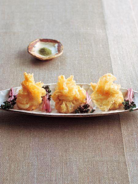 生湯葉と栗、鶏の茶巾 のレシピ・作り方|ELLE gourmet [エル・グルメ]