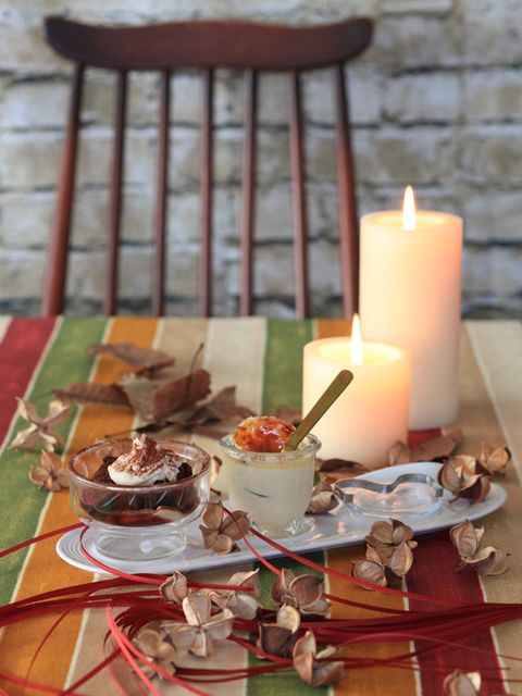 Lighting, Serveware, Wax, Cuisine, Dish, Candle, Flame, Dishware, Fire, Outdoor furniture,