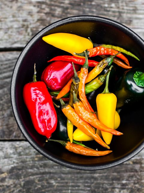 Food, Produce, Ingredient, Vegetable, Bird's eye chili, Spice, Malagueta pepper, Bell peppers and chili peppers, Cuisine, Chili pepper,