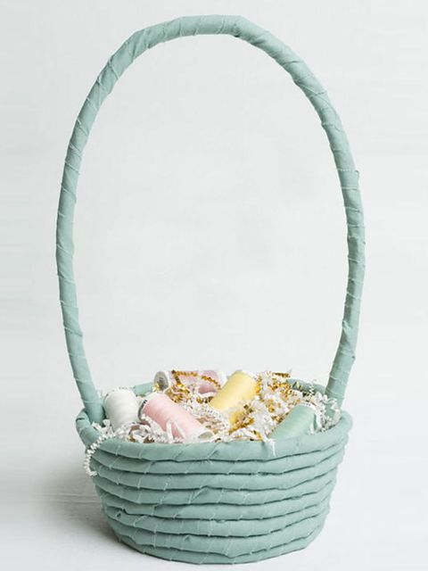 Basket, Turquoise, Teal, Wicker, Storage basket, Home accessories, Natural material, Beige, Aqua, Peach,