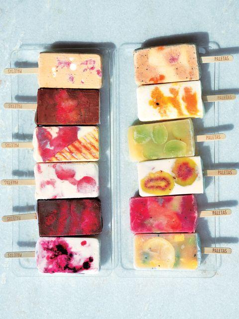 Food, Paint, Cuisine, Magenta, Recipe, Art paint, Rectangle, Watercolor paint, Sweetness, Garnish,