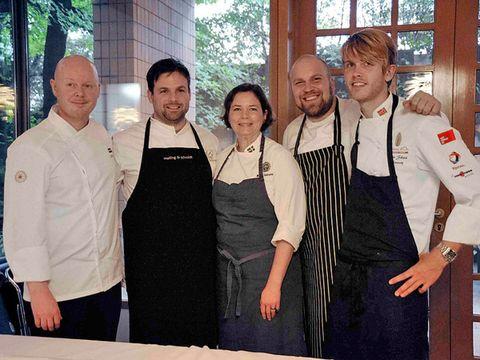 Smile, Cook, Apron, Chef, Belt, Cooking, Chef's uniform, Employment, Service,