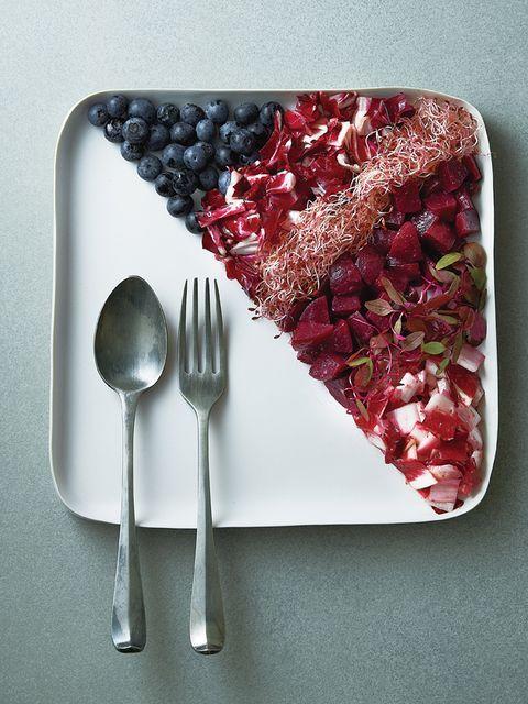 Dishware, Cutlery, Tableware, Serveware, Kitchen utensil, Carmine, Fruit, Grey, Pomegranate, Berry,