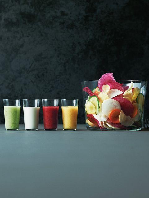 Serveware, Petal, Still life photography, Drinkware, Interior design, Wax, Ingredient, Peach, Dishware, Rose family,
