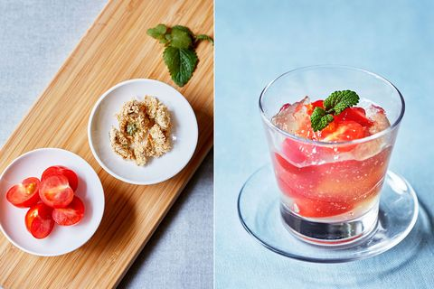 Food, Tableware, Ingredient, Dishware, Produce, Serveware, Garnish, Drink, Natural foods, Fruit,