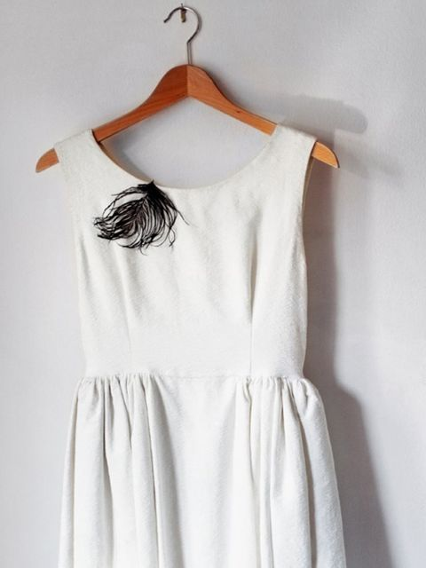 Clothing, White, Day dress, Dress, Clothes hanger, Shoulder, Sleeve, Outerwear, Neck, One-piece garment,