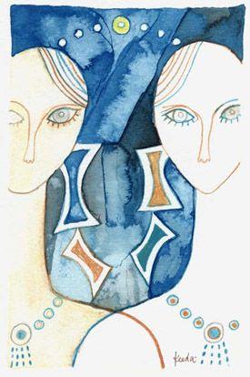Blue, Finger, Organ, Azure, Art, Electric blue, Aqua, Illustration, Artwork, Painting,