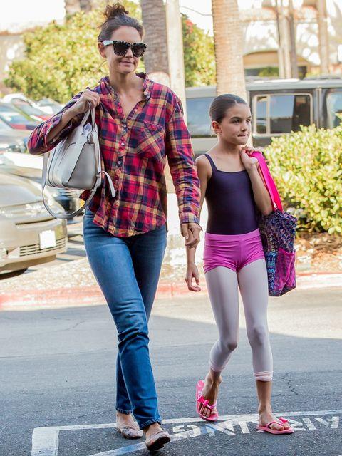 Plaid, Photograph, People, Clothing, Street fashion, Jeans, Fashion, Pink, Walking, Snapshot,