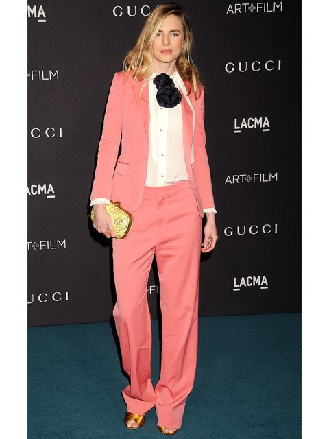 buy popular cc89c ba8c8 甘いけどカッコイイ! 知性派女優が選ぶ「グッチ」のピンクスーツ