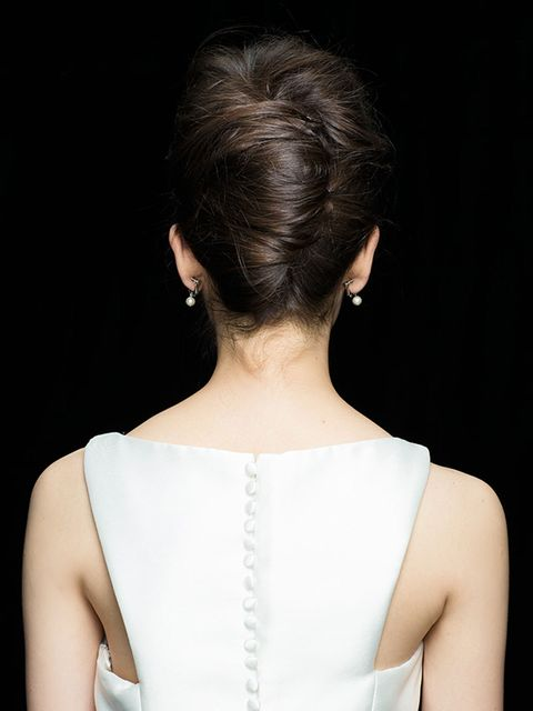 Clothing, Ear, Hairstyle, Shoulder, Joint, Style, Earrings, Fashion, Neck, Back,