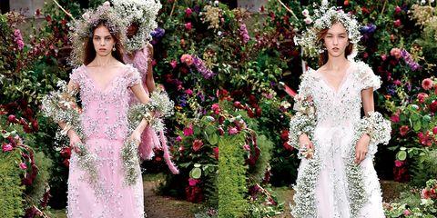 Dress, Gown, Clothing, Wedding dress, Shoulder, Bridal clothing, Bride, Pink, Bridal party dress, Fashion,