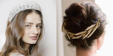 Hair, Hairstyle, Headpiece, Hair accessory, Chin, Fashion accessory, Long hair, Headgear, Brown hair, Ear,