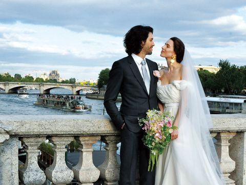 Bride, Photograph, Wedding dress, Gown, Bridal clothing, Dress, Ceremony, Formal wear, Wedding, Suit,