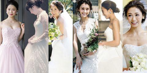 Clothing, Dress, Bridal clothing, Sleeve, Skin, Trousers, Petal, Shoulder, Textile, Photograph,