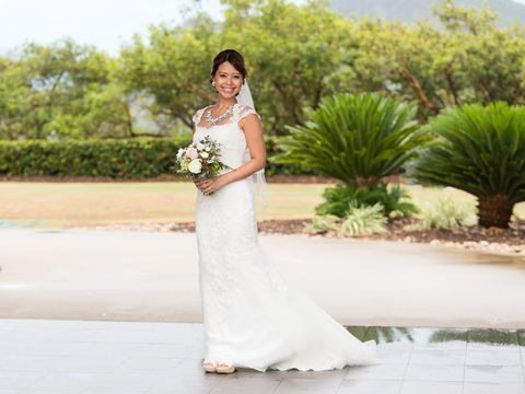 Clothing, Dress, Sleeve, Skin, Bridal clothing, Shoulder, Photograph, Happy, Petal, Wedding dress,